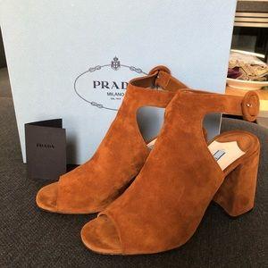 Prada Gorgeous Suede Sandals